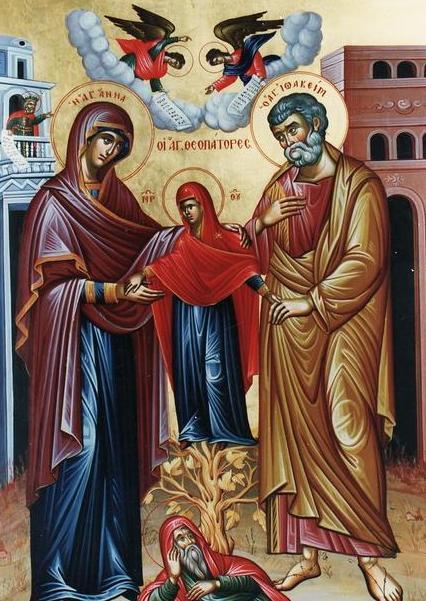 Οι Άγιοι Θεοπάτορες Ιωακείμ και Άννα (9 Σεπτεμβρίου)