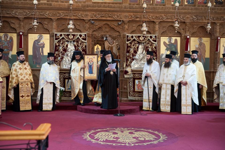 Προσφώνηση Μητροπολίτη Κωνσταντίας κατά την επίσκεψη του Πατριάρχη Σερβίας 11-11-2016
