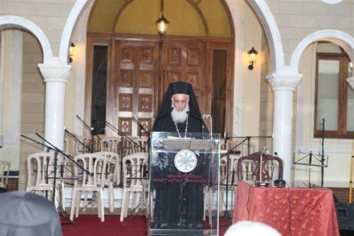 Χαιρετισμος Αρχιεπ. Κυπρου – Κληρικολαϊκη Συνελ. (10-5-2012)
