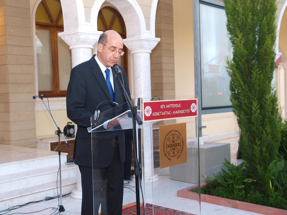 Χαιρετισμός του Προέδρου της Δημοκρατίας κ. Δημήτρη Χριστόφια στην Α' Κληρικολαϊκή Συνέλευση(13-5-2010)