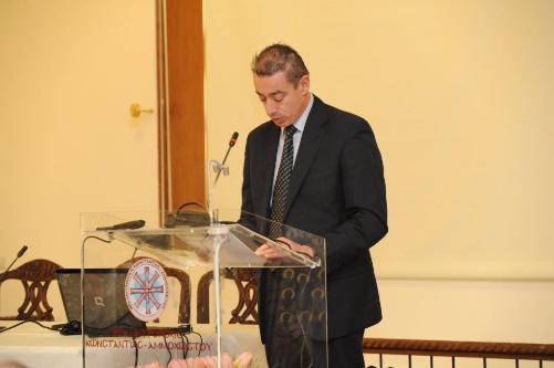 Χαιρετισμός εκ μέρος του Προέδρου της Κυπριακής Δημοκρατίας κ. Νίκου Αναστασιάδη από τον Επίτροπο Εθελοντισμού κ. Γιαννάκη Γιαννάκη (13-2-2014)
