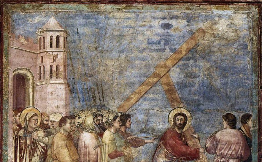Giotto Di Bondone   No. 34 Scenes From The Life Of Christ   18. Road To Calvary   WGA09220