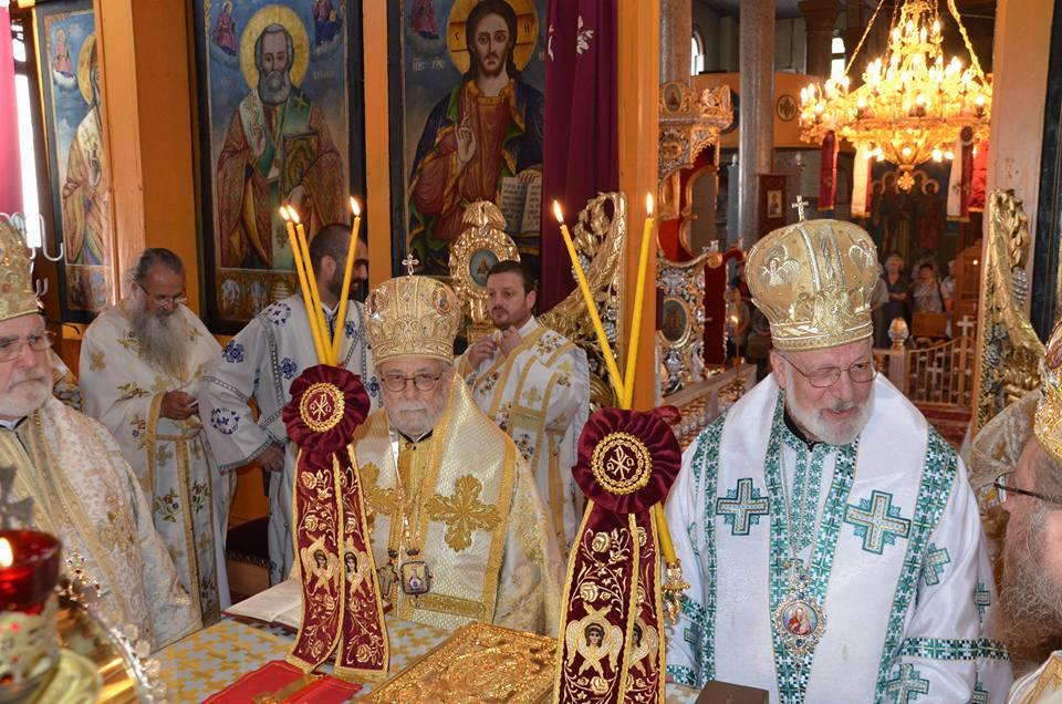 Ο Μητροπολίτης Κωνσταντίας στη Σιλίστρα Βουλγαρίας για την εορτή των Αγίων Αποστόλων.