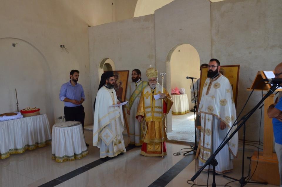 Θεία Λειτουργία και θεμέλιος λίθος εξωκλησίου Αποστόλου Ανδρέα στον Πρωταρά (16-7-2017)