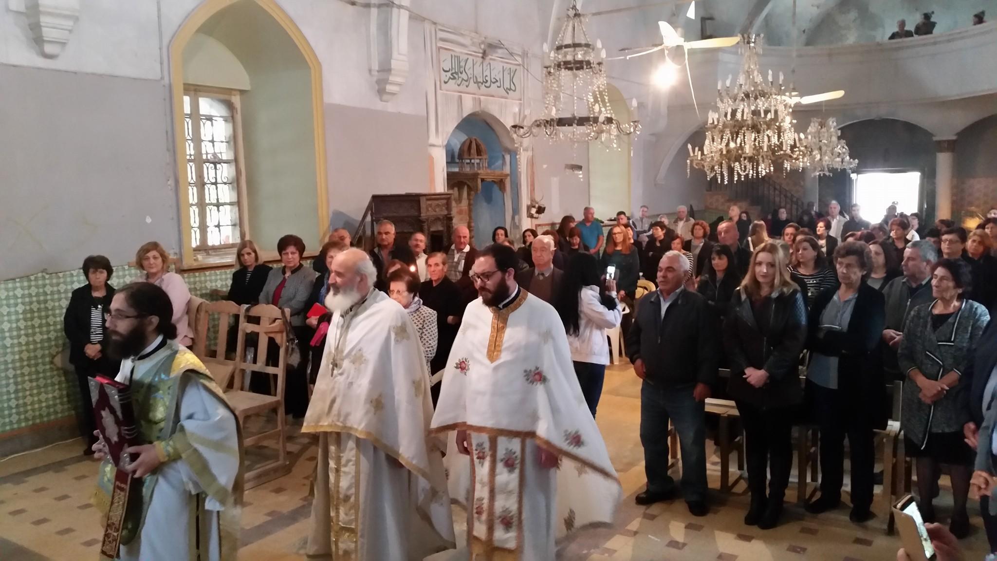 Θεία Λειτουργία στον κατεχόμενο Άγιο Γεώργιο Πραστειού Αμμοχώστου (5-11-2017)