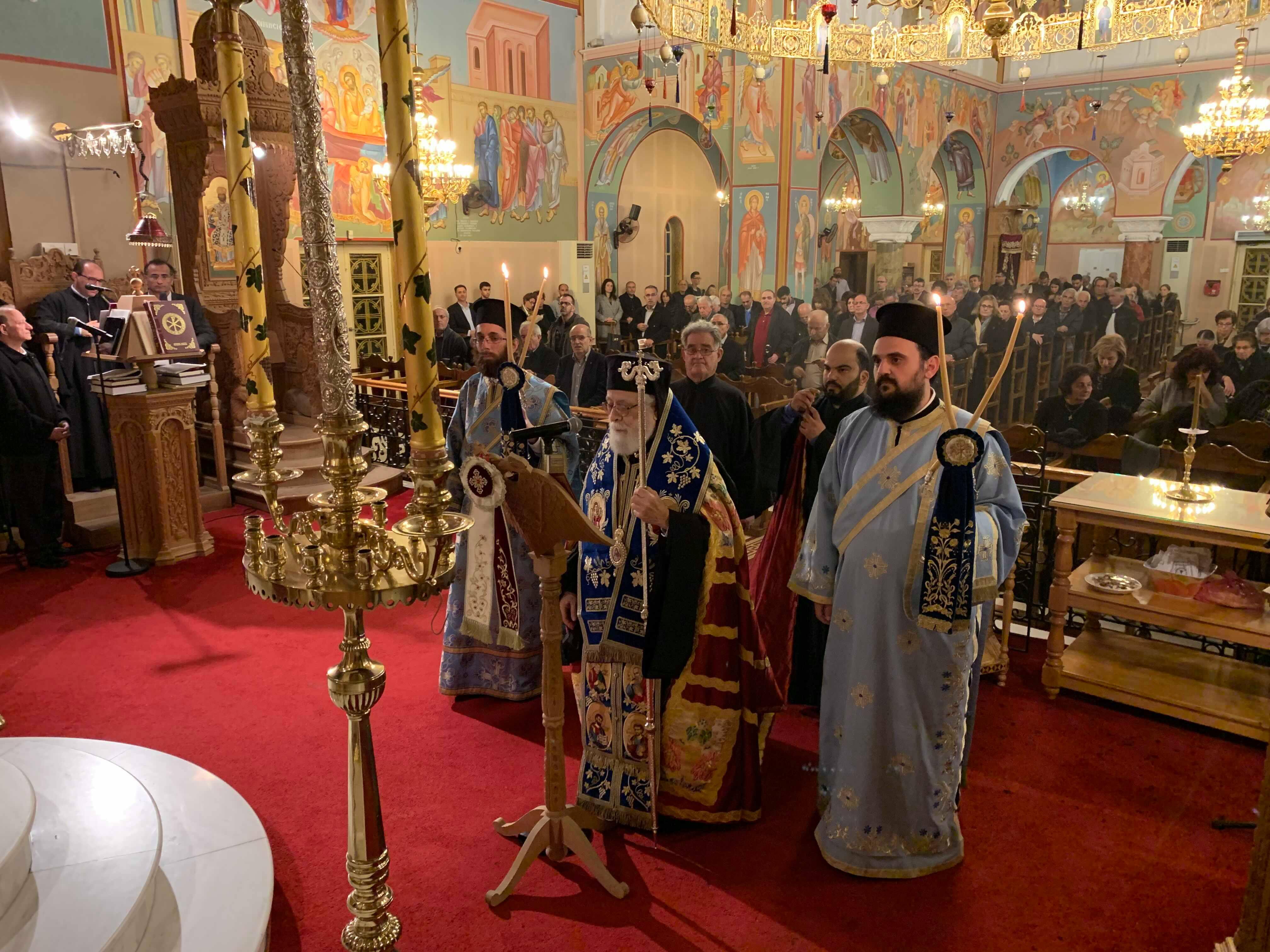 Πρώτη ακολουθία των Χαιρετισμών στην ενορία του Αγίου Δημητρίου Παραλιμνίου