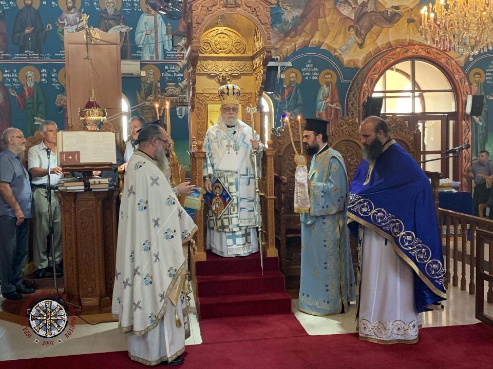 Πανηγυρική Θεία Λειτουργία στον Ιερό Ναό Παναγίας Ελεούσης Λιοπετρίου